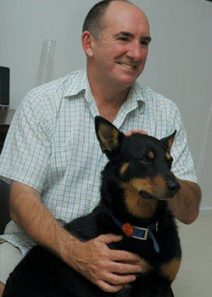 Bronte with his dog Bingo